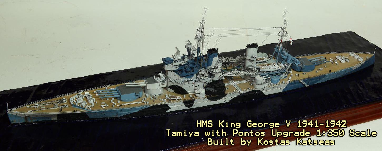 Kostas Katseas took the Tamiya King George V in 1:350 scale and ...
