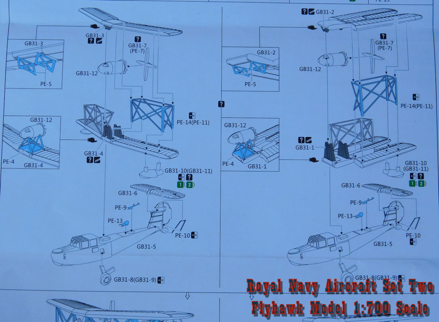 Flyhawkroyalnavyaircraftsettwo Catapult Engineering Schematics The Flyhawk Royal Navy Aircraft Set Two In 1700 Scale Is Essentially A Float Plane With Walruses For Battleships